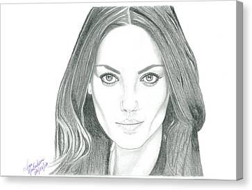 Mila Kunis Canvas Print by Gloria MacEachern