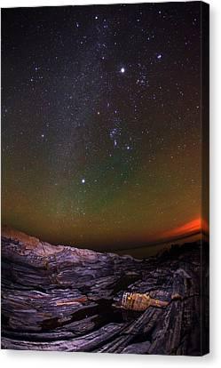 Milky Way Over An Atlantic Coastline Canvas Print by Babak Tafreshi