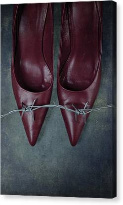 Pointy Canvas Print - Mind Your Steps by Joana Kruse