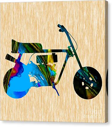 Mini Bike Canvas Print by Marvin Blaine