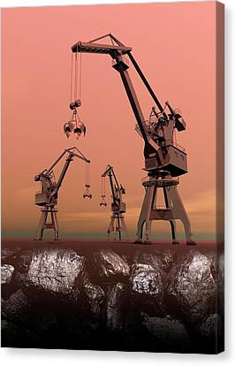 Mining Canvas Print by Victor Habbick Visions