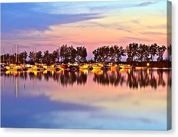 Marvelous View Canvas Print - Mirror Mirror by Frozen in Time Fine Art Photography