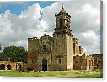 Canvas Print featuring the photograph Mission San Jose by Olivia Hardwicke