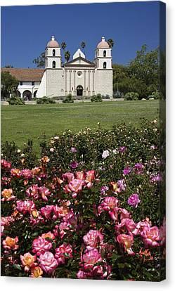 Mission Santa Barbara Canvas Print by Michele Burgess