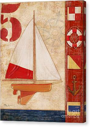 Toy Boat Canvas Print - Model Yacht Collage II by Paul Brent