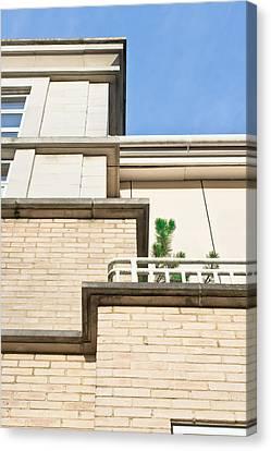 Modern Apartments Canvas Print by Tom Gowanlock