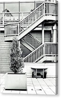 Fire Escape Canvas Print - Modern Architecture by Tom Gowanlock