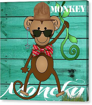 Monkey Business Collection Canvas Print by Marvin Blaine