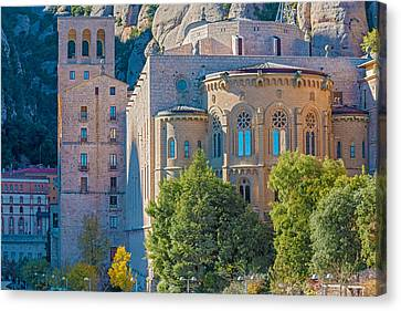 Montserrat Monastery Near Barcelona Spain Canvas Print by Marek Poplawski