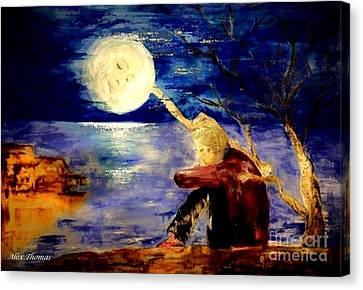 Moon Consolation  Canvas Print by Alex Thomas