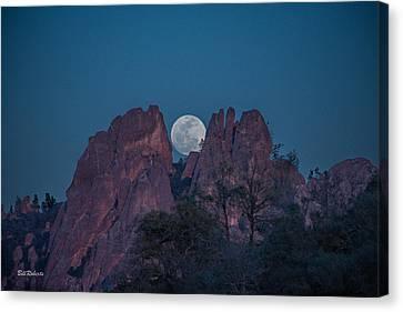 Moon Rise Pinnacles Canvas Print