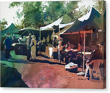 Morning Market Canvas Print by Kris Parins
