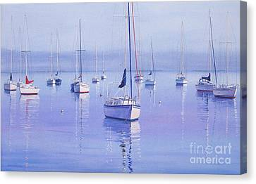 Morning Reflections Canvas Print by Karol Wyckoff