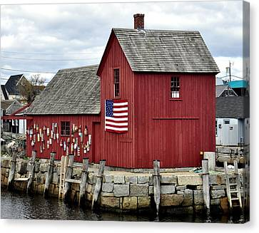 Canvas Print featuring the photograph Motif  Rockport Ma by Caroline Stella