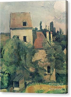 Moulin De La Couleuvre At Pontoise Canvas Print by Paul Cezanne