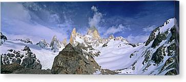 Andes Canvas Print - Mount Fitz Roy Seen From Laguna De Los by Martin Zwick