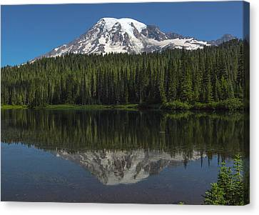 Mount Rainier From Reflection Lake Canvas Print by Bob Noble Photography
