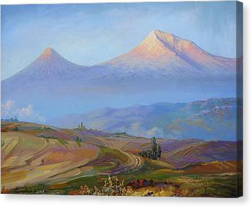 Mountain Ararat In The Early Morning Canvas Print