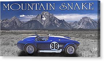 Canvas Print featuring the digital art Mountain Snake by Ed Dooley