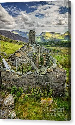 Hdr Landscape Canvas Print - Mountain View by Adrian Evans