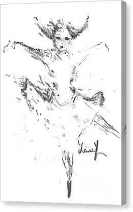 Canvas Print featuring the drawing Movement Of Dance by Laurie Lundquist