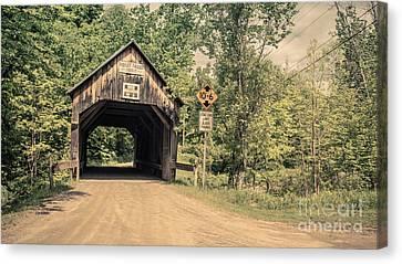 Moxley Covered Bridge Chelsea Vermont Canvas Print