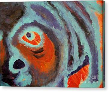 Mr Pugglesworth Aint Happy Canvas Print by Laurette Escobar