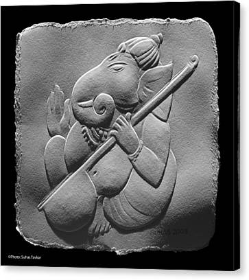 Musical Ganesha Canvas Print