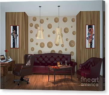 My Art In The Interior Decoration - Elena Yakubovich Canvas Print