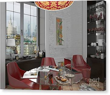 My Art In The Interior Decoration - Elena Yakubovich Canvas Print by Elena Yakubovich