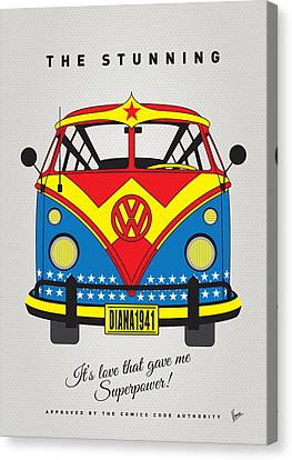 My Superhero-vw-t1-wonder Woman Canvas Print by Chungkong Art