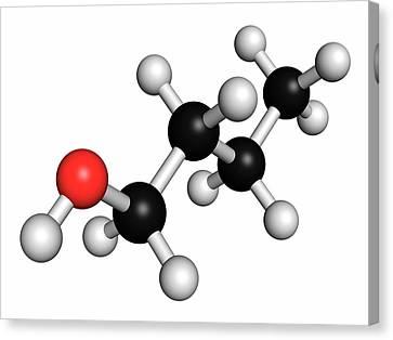 N-butanol Molecule Canvas Print by Molekuul