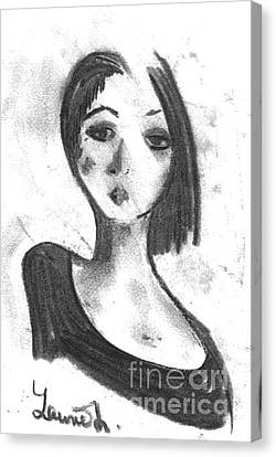 Canvas Print featuring the drawing Nadia by Laurie L