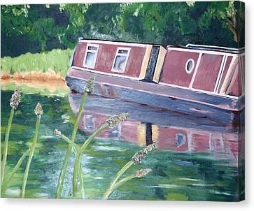 Narrowboat Canvas Print