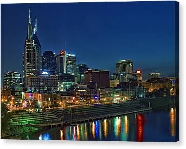 Nashville Cityscape Canvas Print by Patrick Collins