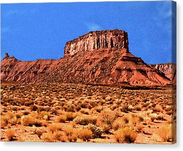 Canvas Print featuring the painting National Navajo Tribal Park by Bob and Nadine Johnston
