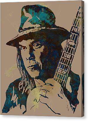 Neil Young Pop Artsketch Portrait Poster Canvas Print