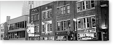 Downtown Nashville Canvas Print - Neon Signs On Buildings, Nashville by Panoramic Images