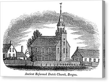 Reform Canvas Print - New Jersey Church, 1844 by Granger