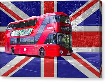 New London Red Bus Canvas Print