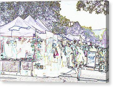 New West Fest Street Fair Canvas Print by Annie Johnson