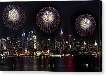 Independance Canvas Print - New York City Celebrates The 4th by Susan Candelario