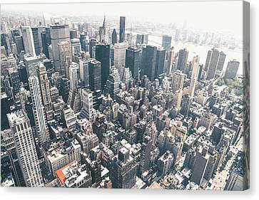 Nyc Rooftop Canvas Print - New York City From Above by Vivienne Gucwa