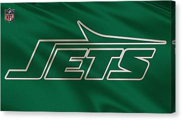 New York Jets Uniform Canvas Print by Joe Hamilton