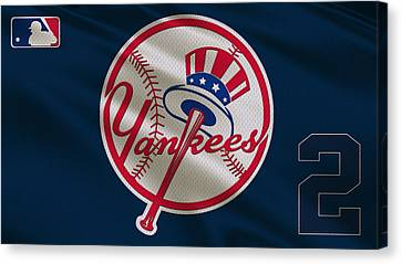 New York Yankees Derek Jeter Canvas Print by Joe Hamilton