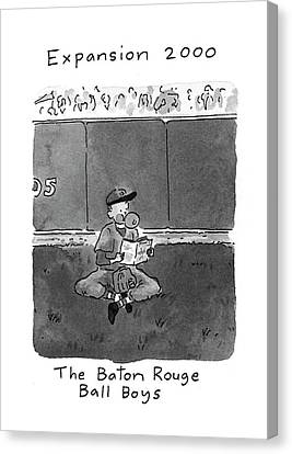 Baseball Uniform Canvas Print - New Yorker April 5th, 1993 by Danny Shanahan