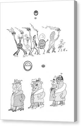 New Yorker February 24th, 1973 Canvas Print by Saul Steinberg