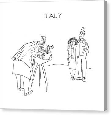 New Yorker July 29th, 1944 Canvas Print by Saul Steinberg