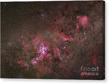 Ngc 3372, The Eta Carinae Nebula Canvas Print by Robert Gendler