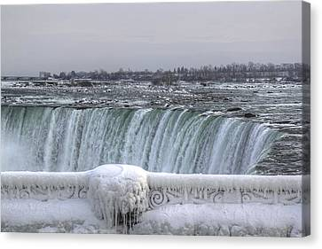 Niagara Falls In The Winter Canvas Print by Nick Mares